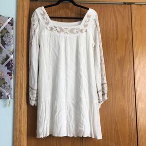 Xhileration size L white gauze dress NWOT